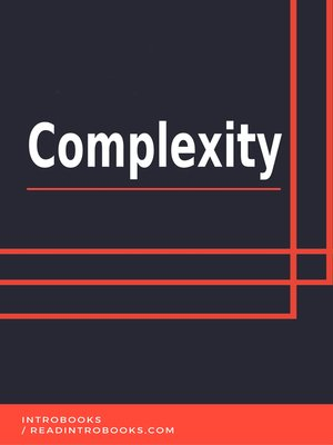 cover image of Complexity